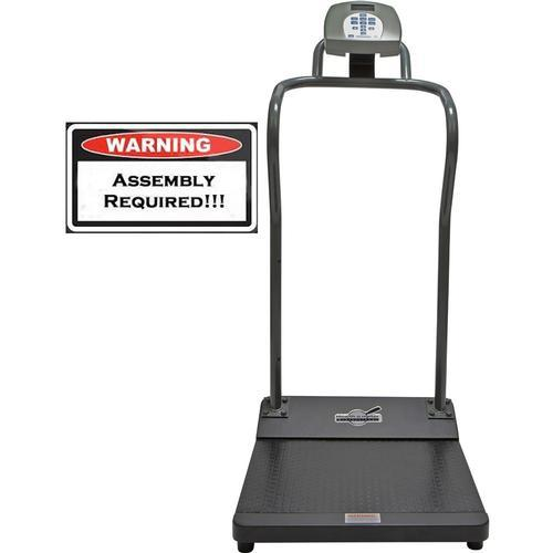 Health-O-Meter 3001KL-AMUA-BT Antimicrobial Digital Platform Scale with Built-in Pelstar Wireless Technology 1000 x 0.2 lb - Unassembled