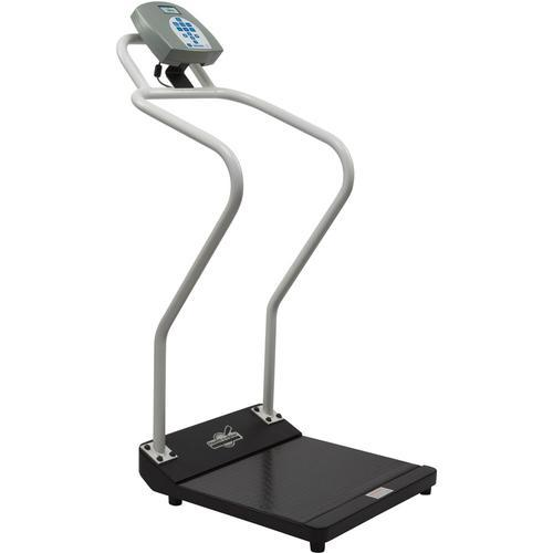 Health-O-Meter 3001KG-AMX Antimicrobial Digital Platform Scale with Extended Handrails KG Only 454 x 0.1 kg