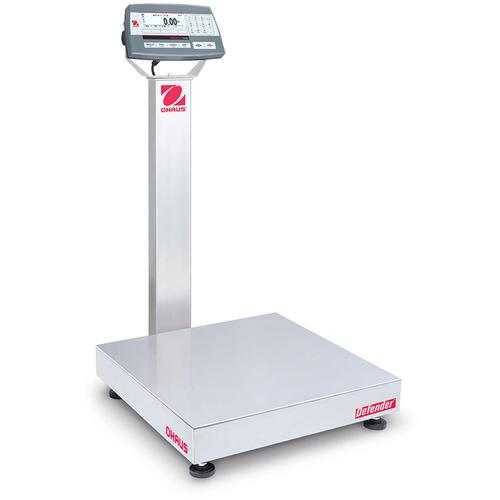 Ohaus D52XW125RQL2 Defender 5000 Stainless Steel 18 x 18 in Bench Scale 250 x 0.01 lb and Legal for Trade 250 x 0.05 lb
