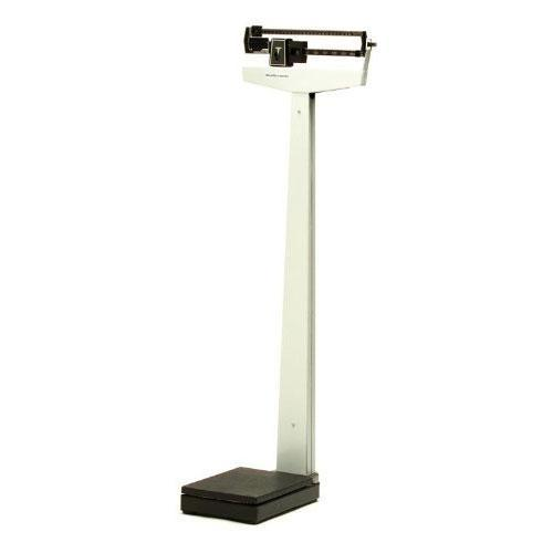 HealthOMeter 400KLWHCW Balance Beam Scale with Fixed Poise Bar, Counterweights and Wheels - 390 x 1/4 lb