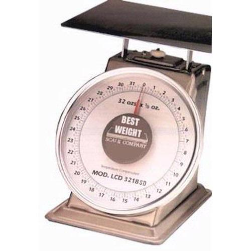 Best Weight B-2-STN Stainless Steel Spring Scale, 32 oz x 1/8 oz