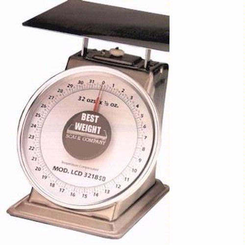 Best Weight B-40-STN Stainless Steel Spring Scale, 40 lb x 2 oz