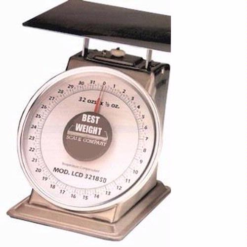 Best Weight B-50-STN Stainless Steel Spring Scale, 50 lb x 2 oz
