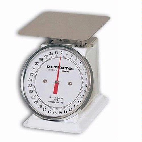 Detecto PT-25-SR Petite Top Loading Dial Scale, 25 lb x 1/8 lb, Stainless