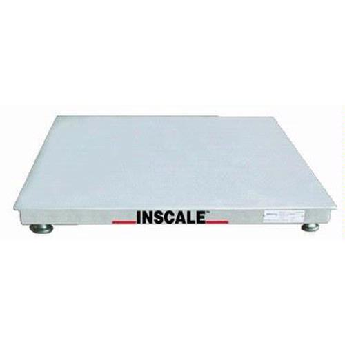 Inscale 44-10-S Stainless Steel Floor Scale, 4 x 4, 10000 x 2 lb