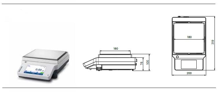 4200 g Maximum Load Capacity x 0.01 g Readability Mettler-Toledo International Inc 1184R70EA Mettler Toledo 30216566 Model ME4002TE Precision Balance