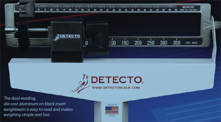 Detecto 338 mechanical physician scale 175 kg x 100 g - How to calibrate a bathroom scale ...