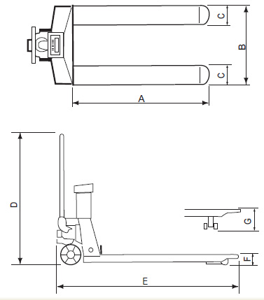 CAS CPS-Series Pallet Jack Scales - Legal for Trade