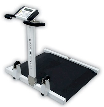wheel chair scale. Detecto Medical Scale - Sturdy, Yet Lightweight, The 6550 Portable Wheelchair Scales Folds Wheel Chair I