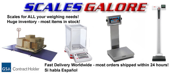 Scales for all your weighing needs - manufacturers such as Acculab, Chatillon, Ametek, Ohaus, Detecto, Siltec, Tanita, CAS, Imada and more.  Analyticals, digital scales, baby scales, medical scales, kitchen scales, industrial scales, counting scales, crane scales, portable scales, body fat scales - all at discount prices!